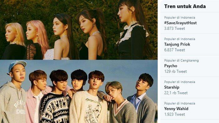 VIRAL di Twitter,Red Velvet Bawakan LaguPsycho Versi Dangdut, Member iKON Heboh di Kursi Penonton