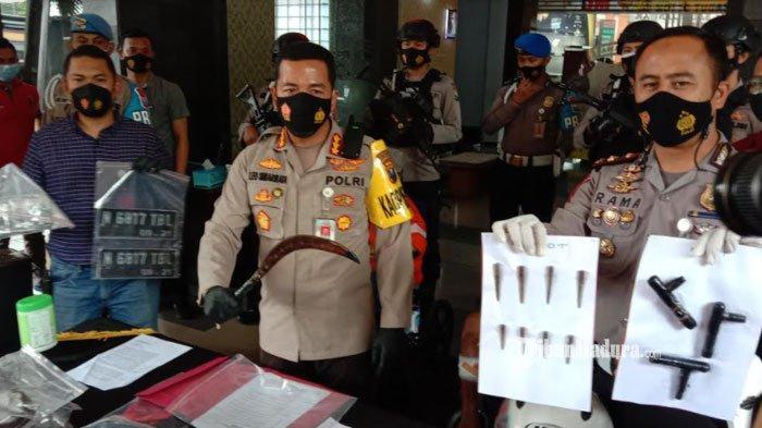 Tak Mau Ditangkap, Maling Motor asal Pasuruan Bacok Polisi di Kota Malang, Berakhir Kakinya Ditembak