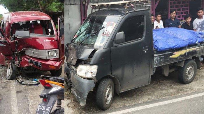 Kecelakaan Beruntun di Jalan Raya Pamekasan - Sumenep Libatkan Tiga Mobil, Satu Kaki Sopir Terjepit