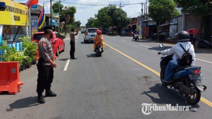 Jelang Lebaran 2021, Arus Lalu Lintas Jalur Utama Antardaerah di Kabupaten Nganjuk Cenderung Sepi