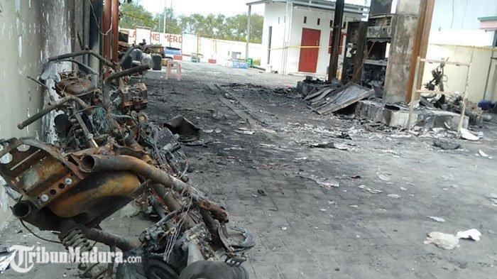 Total 4 Kendaraan Hangus Akibat Kebakaran SPBU di Sampang, Saksi Mata Tak Menyangka