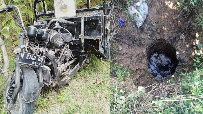 Motor Viar Terperosok Jurang 5 Meter, Pengemudi dan Penumpang Tewas Tertimpa 30 Karung Kotoran Sapi