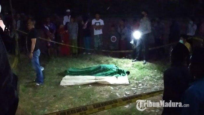 BREAKING NEWS - Pria Sumenep Ditemukan Tewas di Tengah Sawah, Darah Keluar dari Mulut dan Hidung