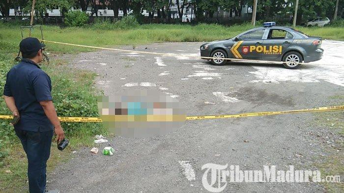 GEGER Temuan Mayat Wanita di Lapangan area Rungkut Industri Surabaya, Tergeletak Pakai Daster Hijau