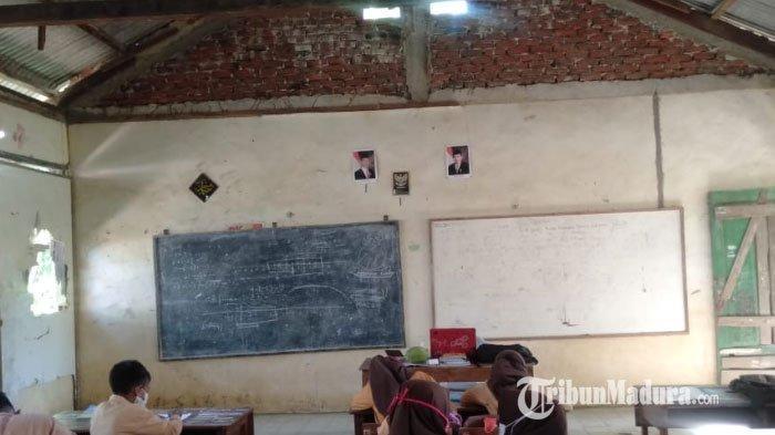 Kondisi Ruang Kegiatan Belajar SD Negeri 3 Tambelangan, Kecamatan Tambelangan, Kabupaten Sampang, Madura, (12/9/2020) kemarin.