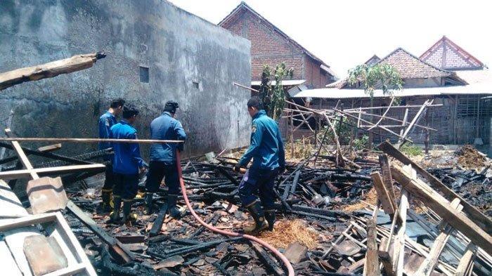 Gara-Gara Kotoran Sapi yang Terbakar, Satu Rumah diGresik Ludes Dilalap Si Jago Merah