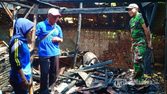Diduga Akibat Korsleting Listrik, Dapur dan Kandang Sapi Kebakaran, Satu Ekor Sapi Ikut Terbakar