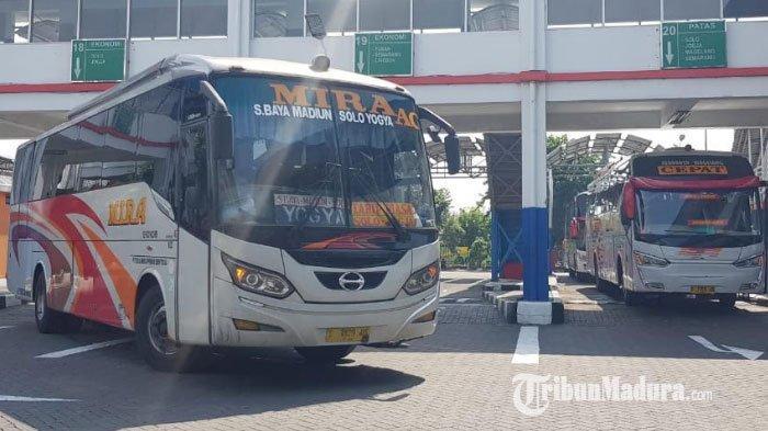 Bus AKAP & AKDP Kembali Beroperasi di Terminal Purabaya, Penumpang Wajib Bawa Surat Keterangan Sehat
