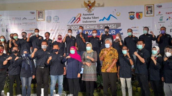 Gubernur Jatim BukaKonferwil AMSI Jatim ke-2,Ajak Industri Media Bersinergi Hadirkan Konten Sehat