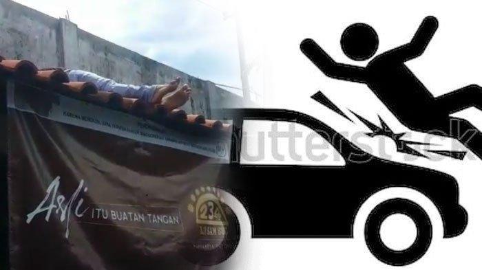 Tabrakan Adu Moncong Honda Vario dengan Daihatsu Xenia Bikin Satu Orang Terpental ke Genteng Warung