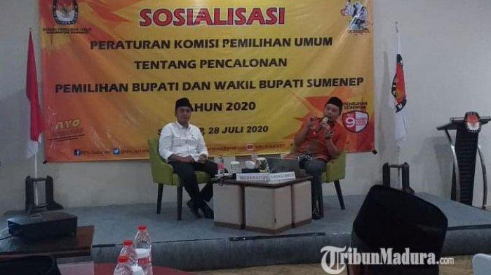 Bersinergi dengan Parpol, KPU Sumenep Gelar Sosialisasi Tahapan & Pencalonan Pemilihan Bupati-Wabup