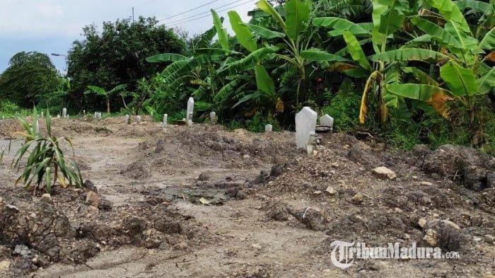 Lahan Pemakaman Khusus Jenazah Covid-19 di Lingkungan Tropodo Kota Mojokerto Mulai Penuh