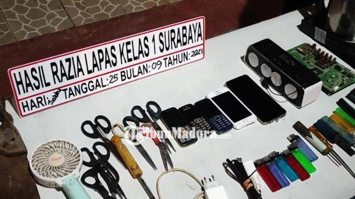 Lapas 1 Surabaya Geledah Blok Hunian, Temukan Sajam, Kompor hingga Gergaji, Begini Respon Kalapas