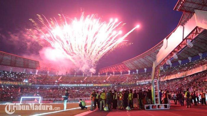Laga Pembuka Liga 1 2020 Persebaya Vs Persik Dipastikan Berlangsung Meriah,Ada Pertunjukan Lampunya