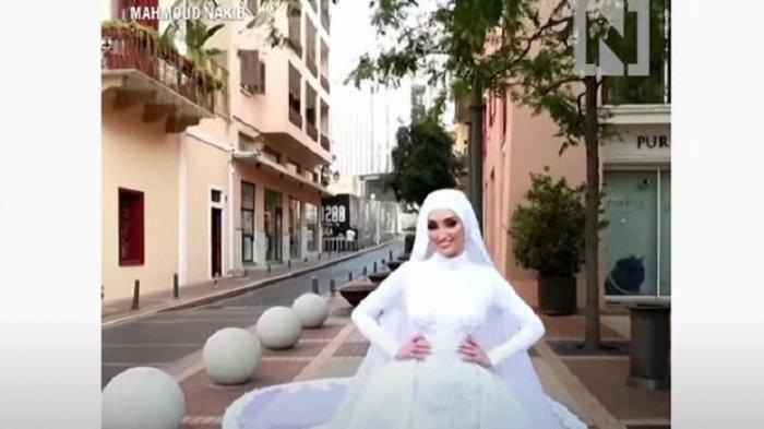 VIDEO Detik-Detik Pengantin Wanita Terhempas Ledakan di Beirut, Lebanon Saat Sesi Video Pernikahan