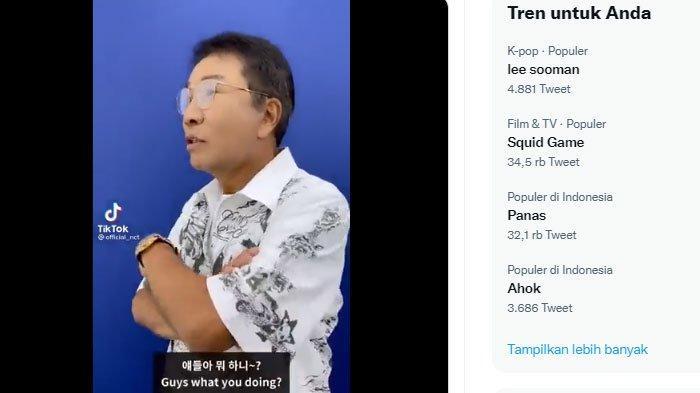 Lee Soo Man masuk dalam jajaran trending topic Twitter pada Sabtu (18/9/2021).