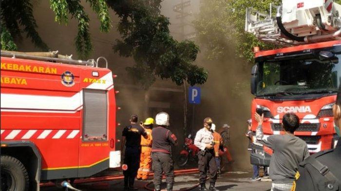 Lima Orang Tewas Dalam Insiden Kebakaran Toko Elektronik di Jalan Kranggan Kawasan Pasar Blauran