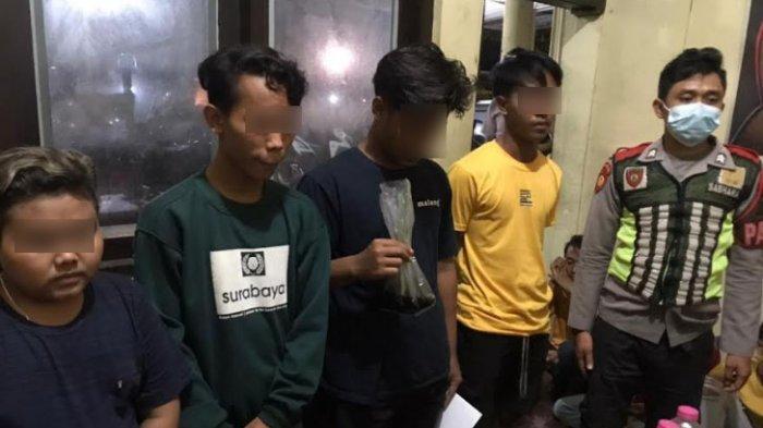 5 Remaja Sedang Asyik Pesta Miras Anggur Merah di Taman Edukasi, Langsung Digiring ke Polres Sumenep