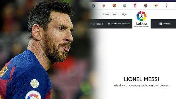 Lionel Messi Pengangguran Usai Kontrak di Barcelona Habis, Kini Namanya Tak Tercantum di La Liga