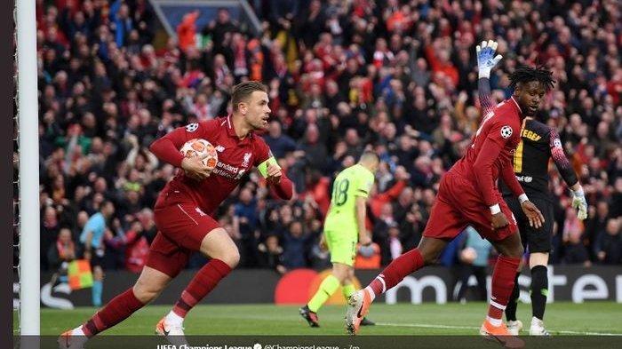 Liverpool Lolos Final Liga Champions, usai Bantai Barcelona 4-0 Lewat Comeback Luar Biasa