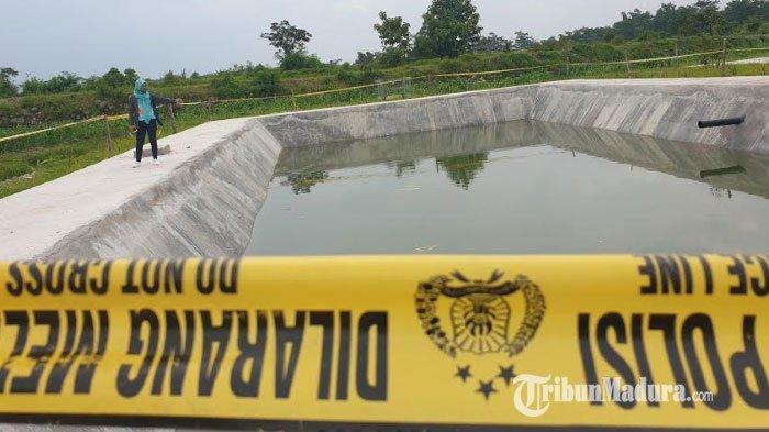 Asyik Berenang Bersama Teman diKolam Resapan TPA Karangdiyeng Mojokerto,Bocah SD Tewas Tenggelam