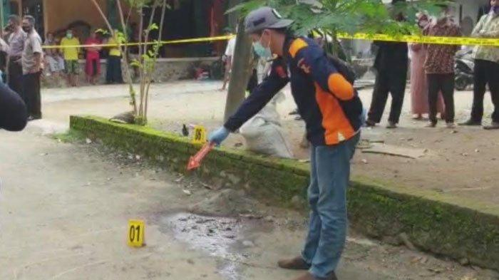 Lokasi pembacokan ayah yang dilakukan anaknya di Desa Kertosono, Kecamatan Panggul, Kabupaten Trenggalek, Senin (15/2/2021).