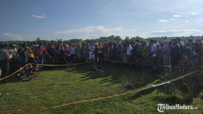 Mayat Pria yang Ditemukan di Lapangan Lengser Sampang Diduga Korban Pembunuhan, Terdapat Luka Bacok