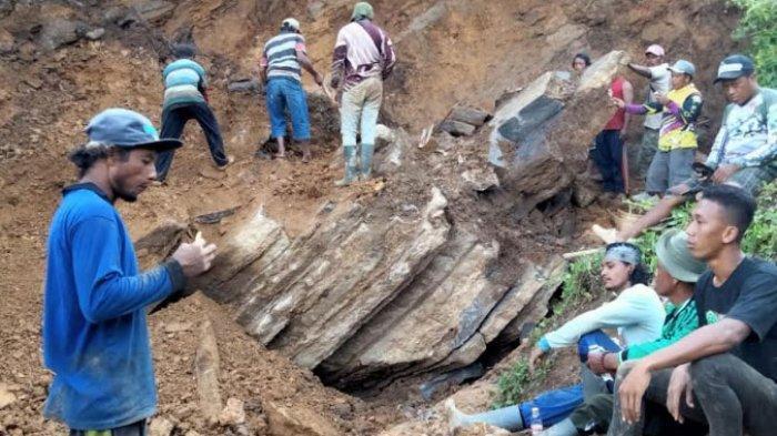 Penambang Batu di Tulungagung Tertimbun Reruntuhan Tebing, Proses Pencarian Korban Masih Berlangsung