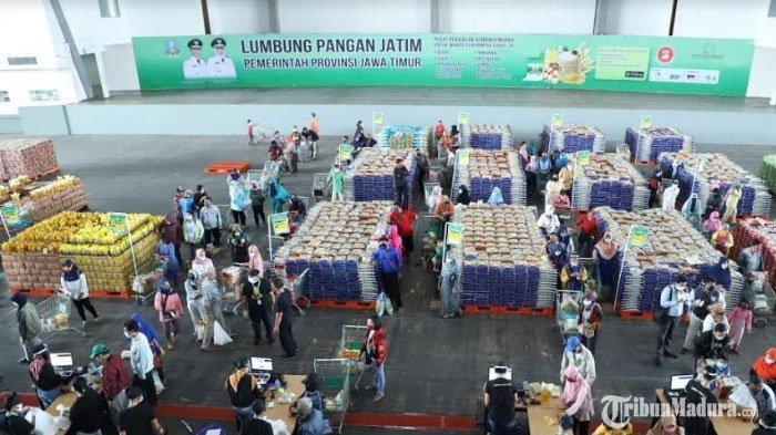 Lumbung Pangan Jatim Sediakan PaketSembako Murah, Acara Dibuka Setiap Hari hingga3 Bulan ke Depan
