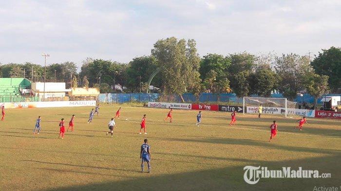 Liga 2 2019 - Babak PertamaMadura FC VsPersiba Balikpapan, Tuan Rumah Unggul 1-0 atas Tim Tamu
