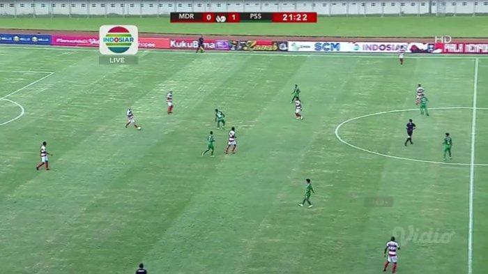 Madura United Vs PS Sleman, Gol Irfan Jaya Jadikan Madura United Tertinggal 0-1 hingga Babak Pertama
