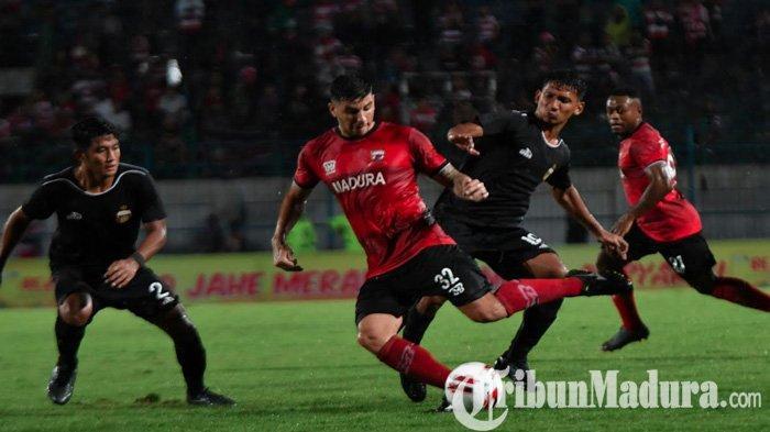 Berkat Haris Tuharea, Madura United Tahan Imbang Bhayangkara FC di Laga Perdana Piala Gubernur Jatim