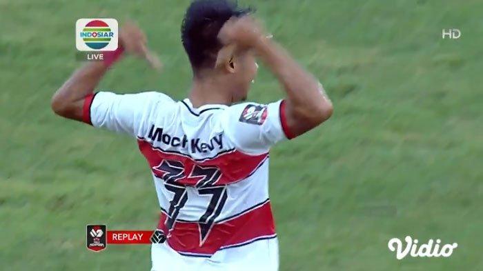Madura United Vs PS Sleman, M Kevy Bawa Laskar Sapeh Kerab Imbangi Super Elang Jawa hingga Menit 75