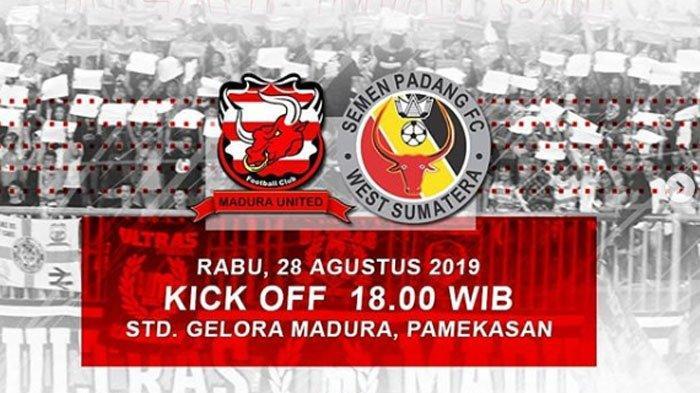 LINK LIVE STREAMING Madura United Vs Semen Padang, Tuan Rumah yang Pincang Saat Jamu Lawannya