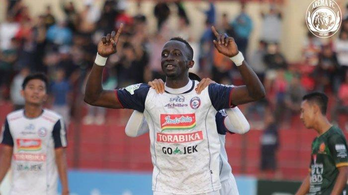 Makan Konate Masuk Dua Kategori Pemain Arema FC Paling Mentereng pada Putaran Pertama Liga 1 2019