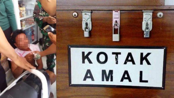 Maling Kotak Amal Masjid Dijambak Warga, Ketahuan Hendak Mencuri di Masjid Desa Konang Pamekasan