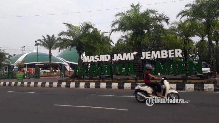 Masjid Jami Al Baitul Amien Jember Gelar Salat Idul Fitri, Lokasi Salat hanya di Area Dalam Masjid