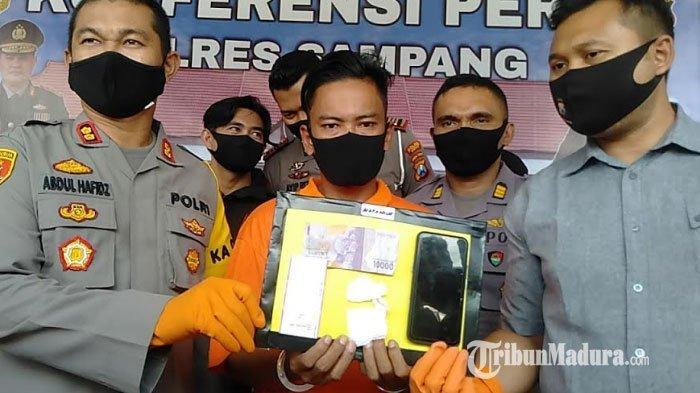 BREAKING NEWS - Pengedar Sabu di Sampang Tertangkap, Sempat Suruh Keponakan ke Lokasi Dekat Ponpes