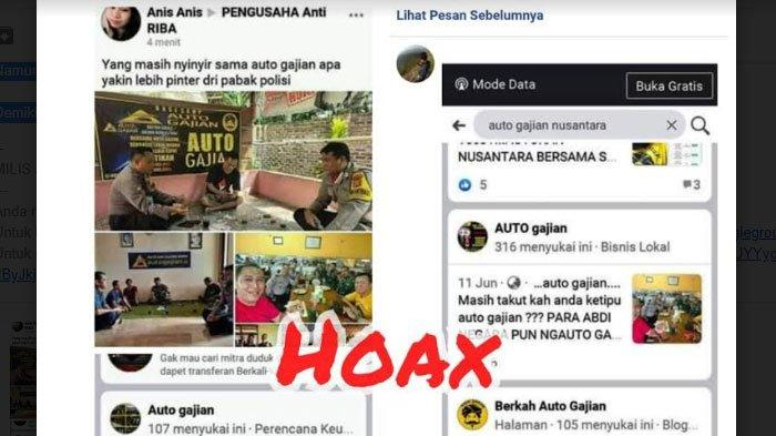 Viral di Facebook Foto Polisi Dipakai Promosi BisnisAuto Gajian,Polres Tulungagung Klarifikasi
