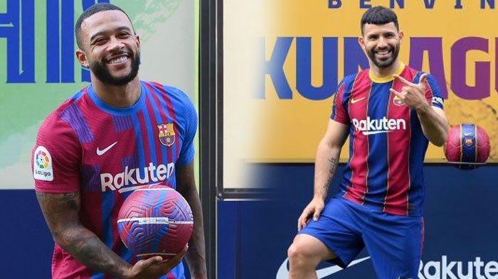 Impian Main Bareng Messi Pupus, Memphis Depay dan Sergio Aguero Seakan Kena Prank Barcelona