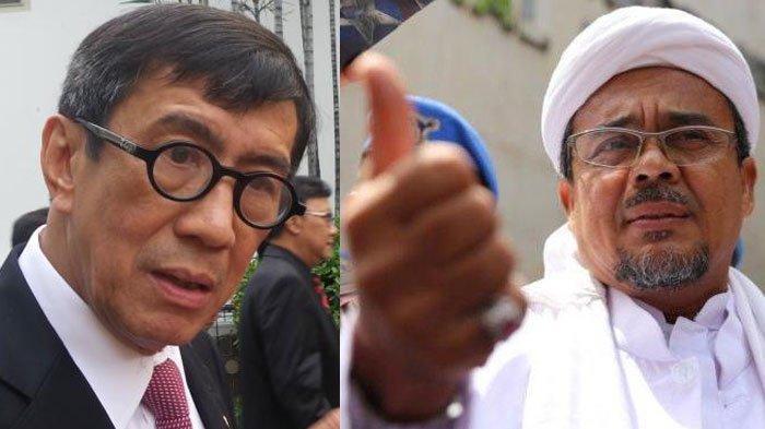 Agar Habib Rizieq Bisa Pulang ke Indonesia, Orangnya Prabowo Tahu Bagaimana Caranya, Yasonna Sangkal