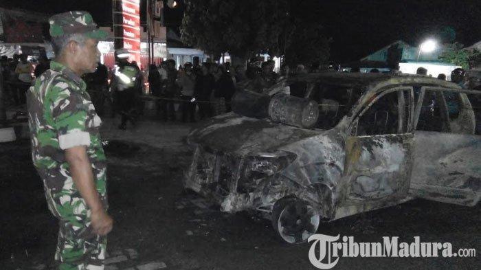 Tak Hanya Mobil, Kebakaran diSPBU Dusun Biro Kediri Juga Hanguskan Satu Unit Motor