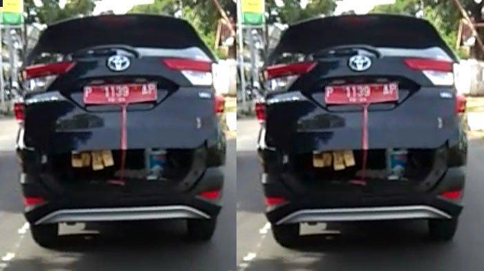 VIRAL Mobil Dinas Pak Camat Kedapatan Angkut Kayu, Bagian Bagasi Kendaraan sampai Menganga