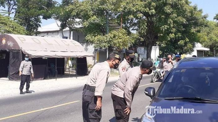 79 Personel Dilibatkan dalam KRYD, Posko Penyekatan Larangan Mudik Berlokasi di Desa Ambat Pamekasan