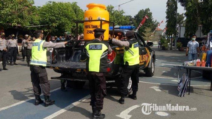 Pasien Corona Meningkat, Polres Bangkalan Sulap Mobil Starada Jadi Mobil Patroli Tangguh Covid-19