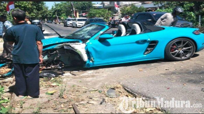 Dikendarai WNA Jepang, Mobil Sport Porsche Rp 2,3 Miliar Hancur di Magetan Gara-gara Seorang Kakek