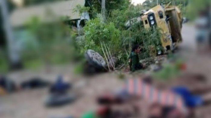 Sopir Mabuk Miras Sebabkan Truk Oleng dan Terbalik, Tiga Orang Tewas di Lokasi, 14 Lainnya Terluka