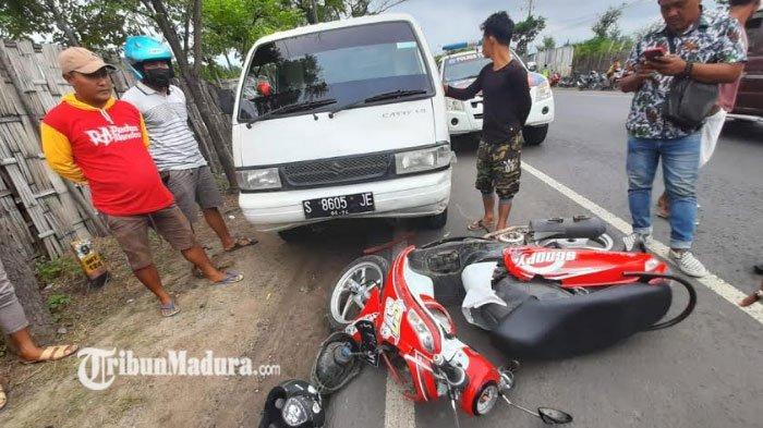 Pengendara Motor Honda Revo Tabrak Mobil Pikap dan Pejalan Kaki, Satu Orang Tewas dan 2 Lainnya Luka