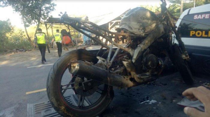 Kronologi Yamaha Vixion Terbakar Setelah Tabrak Pejalan Kaki hingga Tewas di Jalan Raya Tuban-Bancar