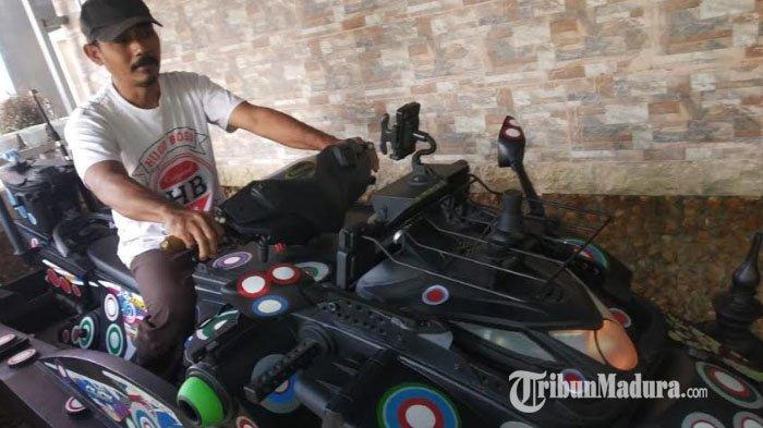 Muhtar Hidayatullah, Warga Kolpajung Pamekasan Buat Jetsky Bermesin Motor, Sudah Diuji Coba di Laut
